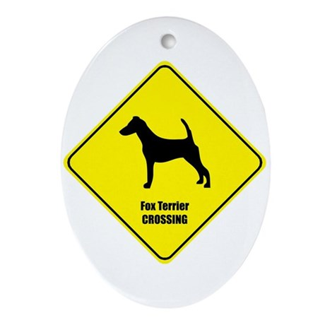 Terrier Crossing Oval Ornament