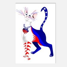 An All American Cat Postcards (Package of 8)