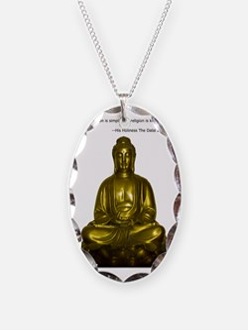 Buddha with Dalai Lama Quote Necklace