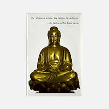 Buddha with Dalai Lama Quote Rectangle Magnet