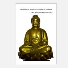 Buddha with Dalai Lama Qu Postcards (Package of 8)