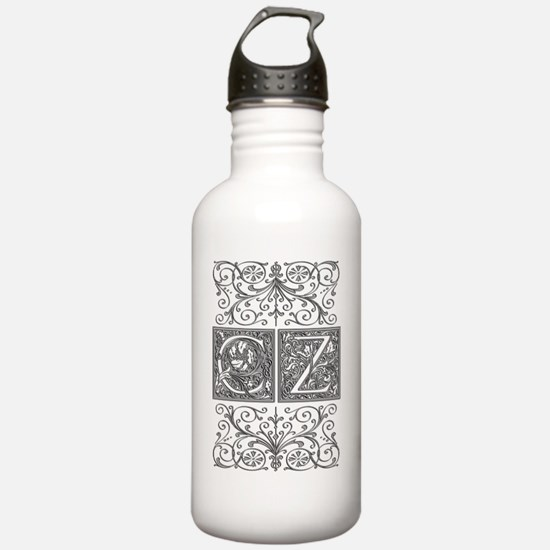 CZ, initials, Water Bottle