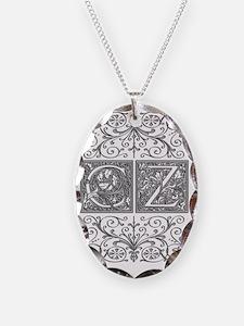CZ, initials, Necklace
