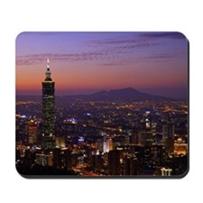 A beautiful overview to Taipei city with Mousepad