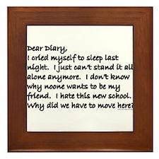 Dear Diary 8 Framed Tile