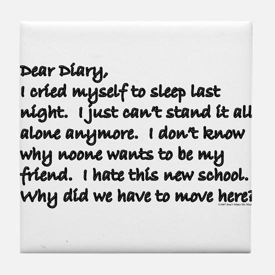 Dear Diary 8 Tile Coaster