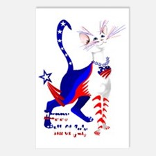 4th Of July American Kitt Postcards (Package of 8)