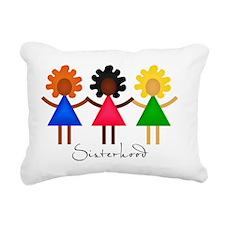 Contemporary Sisterhood Rectangular Canvas Pillow