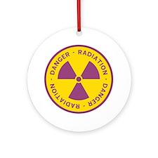 Radiation Warning Symbol Round Ornament