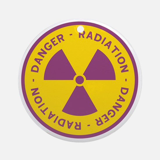 Radiation Warning Symbol Round Ornament