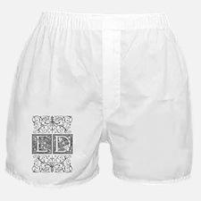ED, initials, Boxer Shorts