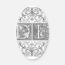 DF, initials, Oval Car Magnet