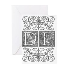 DF, initials, Greeting Card