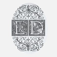 ED, initials, Oval Ornament
