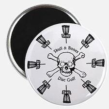 Skull and Bones Disc Golf Sun of Baskets Magnet
