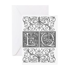 EQ, initials, Greeting Card