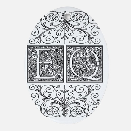 EQ, initials, Oval Ornament