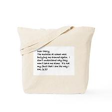 Dear Diary 6 Tote Bag