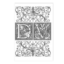 DV, initials, Postcards (Package of 8)
