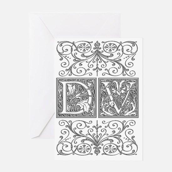 DV, initials, Greeting Card