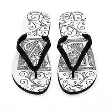 DV, initials, Flip Flops
