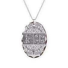 FJ, initials, Necklace
