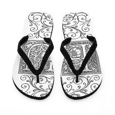 FU, initials, Flip Flops