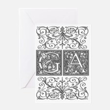 GA, initials, Greeting Card