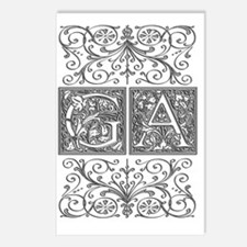 GA, initials, Postcards (Package of 8)