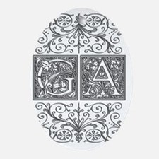 GA, initials, Oval Ornament