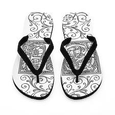 GF, initials, Flip Flops