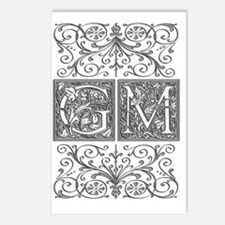 GM, initials, Postcards (Package of 8)