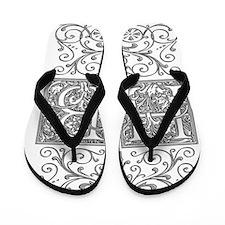 HB, initials, Flip Flops