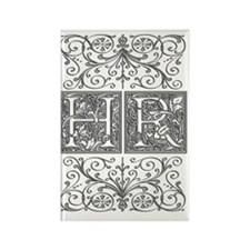 HR, initials, Rectangle Magnet