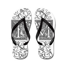 FM, initials, Flip Flops