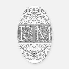 FM, initials, Oval Car Magnet
