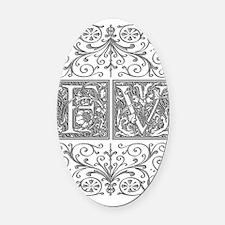 FV, initials, Oval Car Magnet