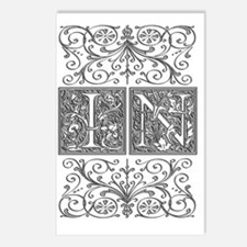 IN, initials, Postcards (Package of 8)