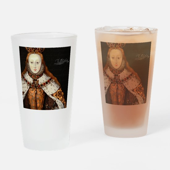 Elizabeth I Coronation Drinking Glass