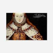 Elizabeth I Coronation Rectangle Magnet