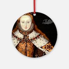 Elizabeth I Coronation Round Ornament