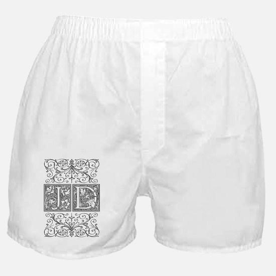 JD, initials, Boxer Shorts