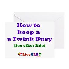 Keep Twink Busy Greeting Card
