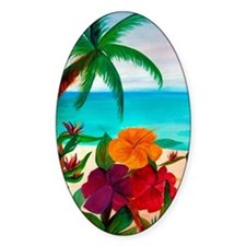 Tropical Floral Beach Decal