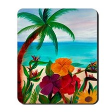 Tropical Floral Beach Mousepad