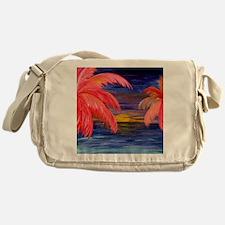 Pink Palms Messenger Bag
