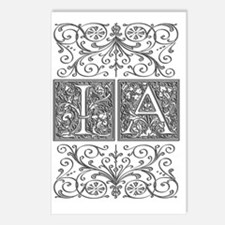 IA, initials, Postcards (Package of 8)