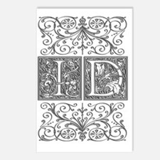 ID, initials, Postcards (Package of 8)