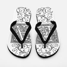 LA, initials, Flip Flops