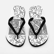 KY, initials, Flip Flops